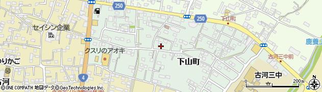茨城県古河市下山町周辺の地図