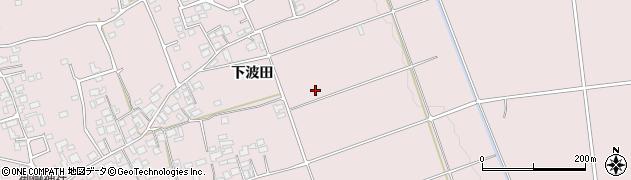 長野県松本市波田(下波田)周辺の地図