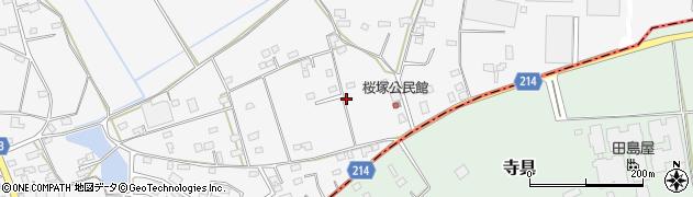 茨城県下妻市高道祖(桜塚)周辺の地図