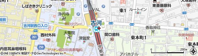 栄光ゼミナール古河校周辺の地図
