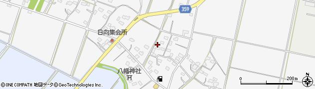 埼玉県熊谷市日向周辺の地図