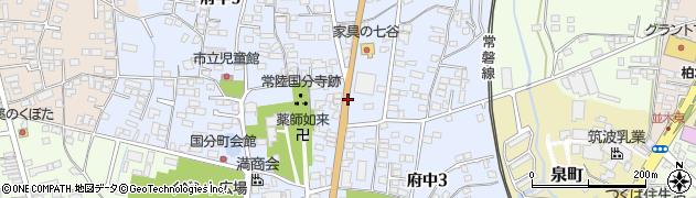 茨城県石岡市府中周辺の地図