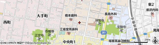茨城県古河市横山町周辺の地図