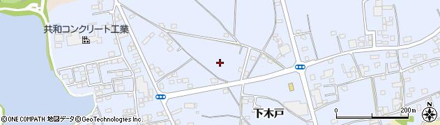 茨城県下妻市下木戸周辺の地図