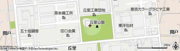 茨城県古河市丘里周辺の地図