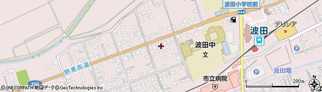 長野県松本市波田(鍋割)周辺の地図