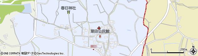 茨城県かすみがうら市粟田周辺の地図
