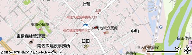 長野県佐久市臼田(中町)周辺の地図