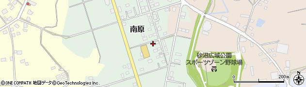 茨城県下妻市南原周辺の地図