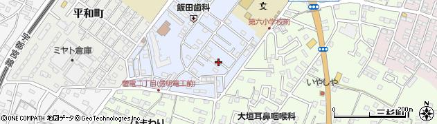 茨城県古河市北町周辺の地図