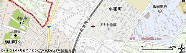 平和町アパート周辺の地図