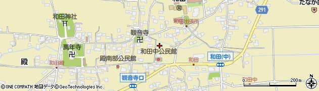 長野県松本市和田(中)周辺の地図