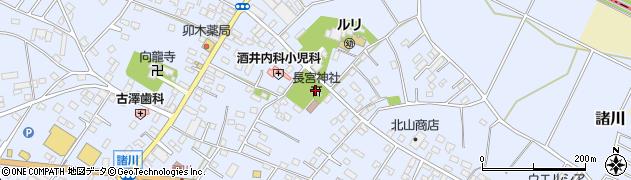 諸川公民館周辺の地図