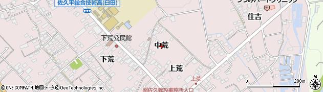長野県佐久市臼田(中荒)周辺の地図