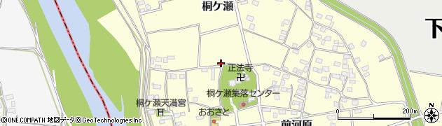 茨城県下妻市桐ケ瀬周辺の地図