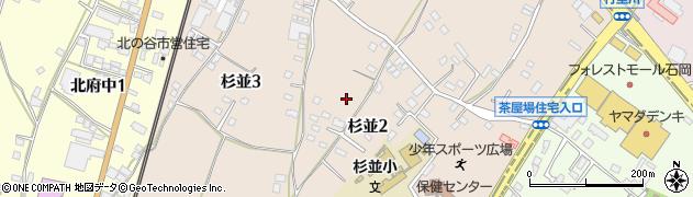 茨城県石岡市杉並周辺の地図