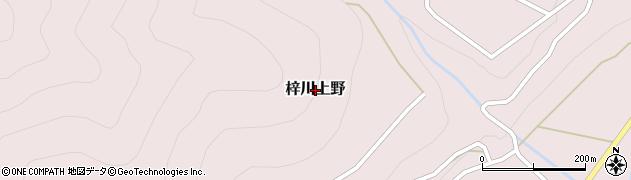 長野県松本市梓川上野周辺の地図