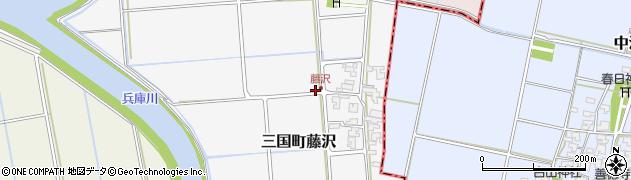 福井県坂井市三国町藤沢周辺の地図