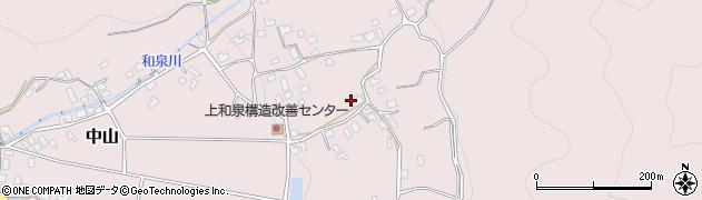 長野県松本市中山(上和泉)周辺の地図