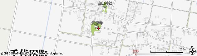 洞源寺周辺の地図