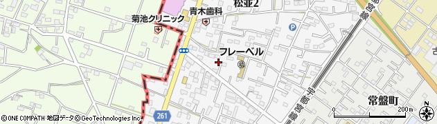 茨城県古河市松並周辺の地図
