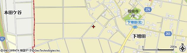 埼玉県熊谷市下増田周辺の地図