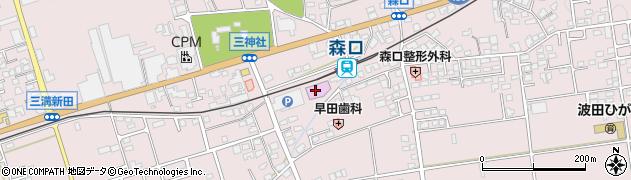 長野県松本市波田周辺の地図