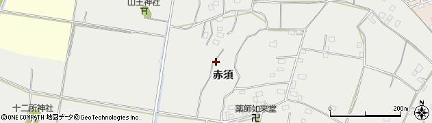 茨城県下妻市赤須周辺の地図