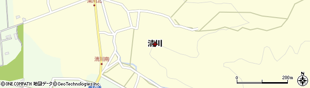 長野県佐久市清川周辺の地図