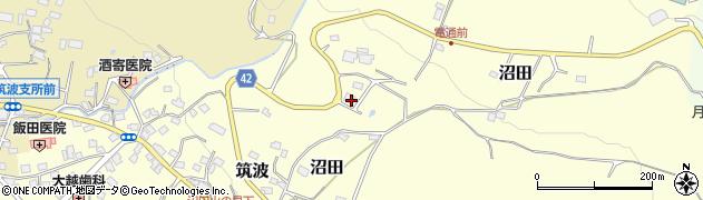筑波苔石周辺の地図