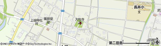 大性寺周辺の地図