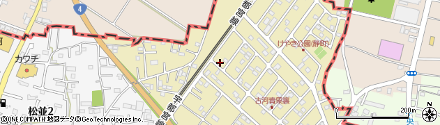 茨城県古河市静町周辺の地図