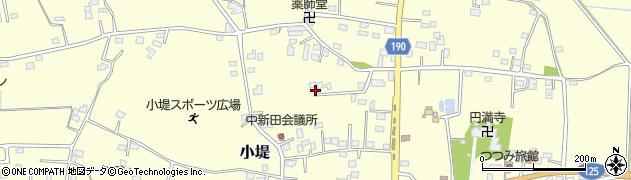 茨城県古河市小堤周辺の地図