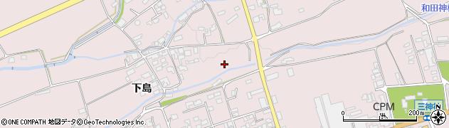 長野県松本市波田(下島)周辺の地図