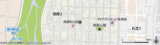 長野県松本市南原周辺の地図