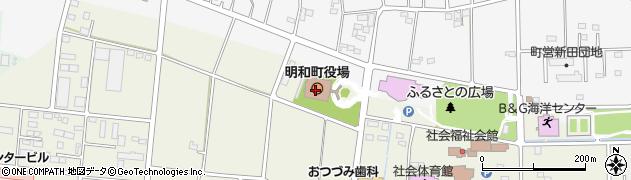 群馬県邑楽郡明和町周辺の地図