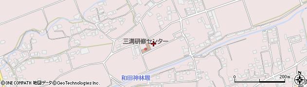 長野県松本市波田(三溝)周辺の地図