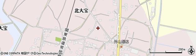 茨城県下妻市北大宝周辺の地図