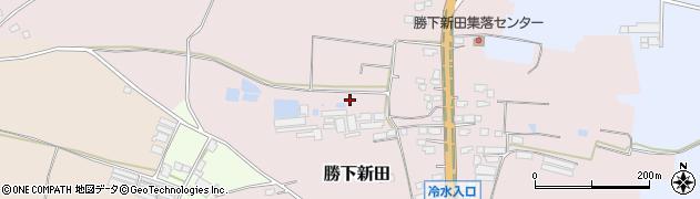 茨城県鉾田市勝下新田周辺の地図