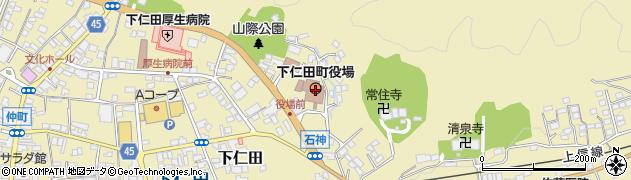 群馬県甘楽郡下仁田町周辺の地図