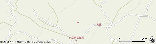 長野県小県郡長和町和田久保周辺の地図