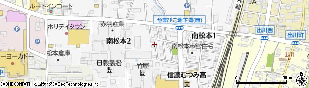長野県松本市南松本周辺の地図