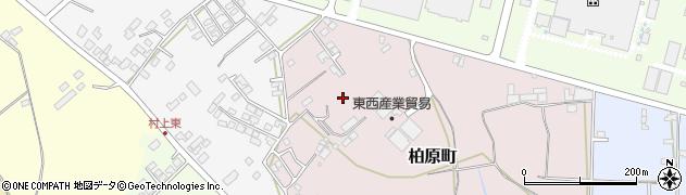 茨城県石岡市柏原町周辺の地図