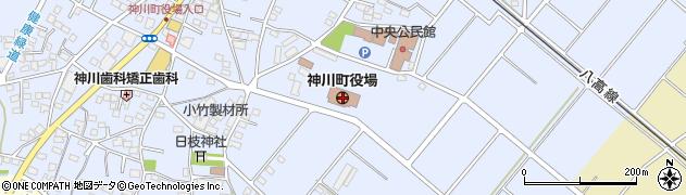 埼玉県児玉郡神川町周辺の地図