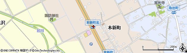 長野県佐久市本新町周辺の地図
