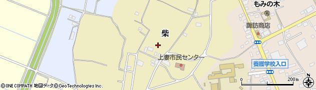 茨城県下妻市柴周辺の地図