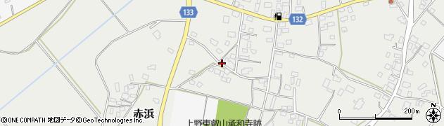 茨城県筑西市赤浜周辺の地図