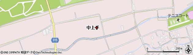 長野県松本市波田(中上手)周辺の地図