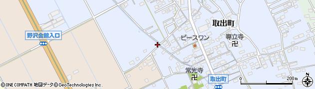 長野県佐久市取出町周辺の地図