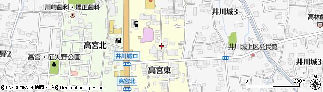 長野県松本市高宮東周辺の地図